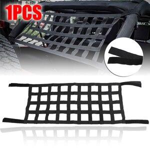 Image 1 - Jeep Wrangler Jl Jk 2007 2018 için 1 adet siyah üst çatı hamak dinlenme yatağı kargo ağı kapağı araba dış aksesuarları