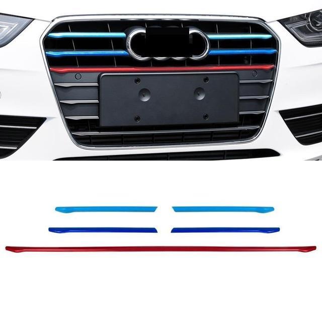 Automovil Chromium Grille Exterior Fashion Accessories Car Styling Protecter Mouldings Parts Decoration 13 14 15 FOR Audi A4L