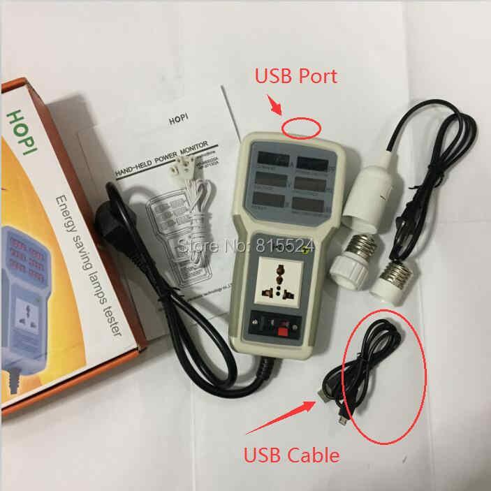 HP9800 USB ميناء 4500W 85V-110V-220V-265V AC 20A HP-9800Electric قوة مراقبة الطاقة مصباح ليد اختبار المقبس واط متر محلل