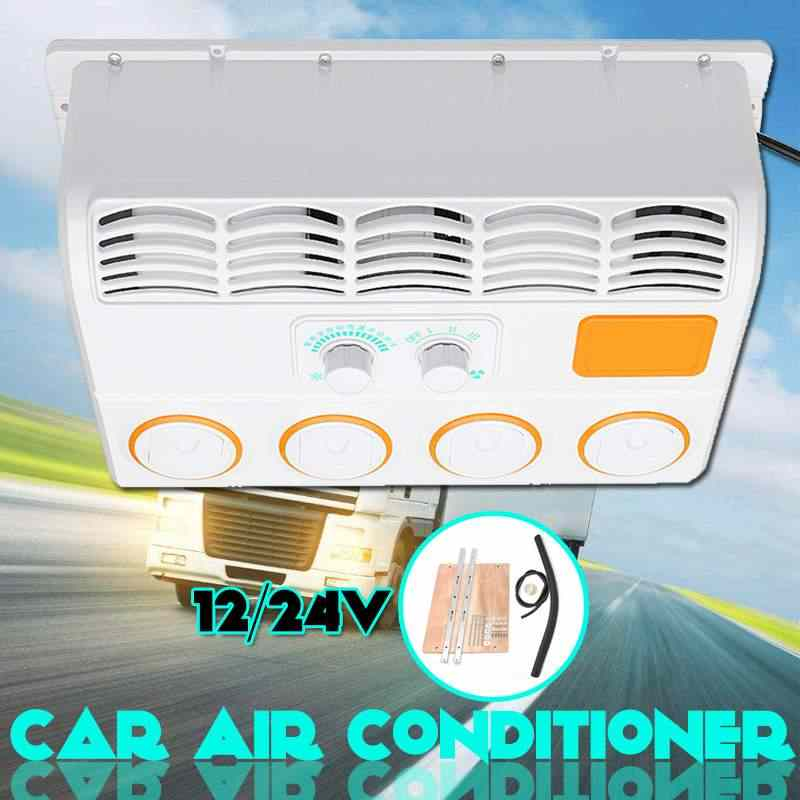 12V/24V Mini Car Air Conditioner Multifunction Portable Wall-mounted Cooling Fan Cooler For Caravan Truck Easy Installation