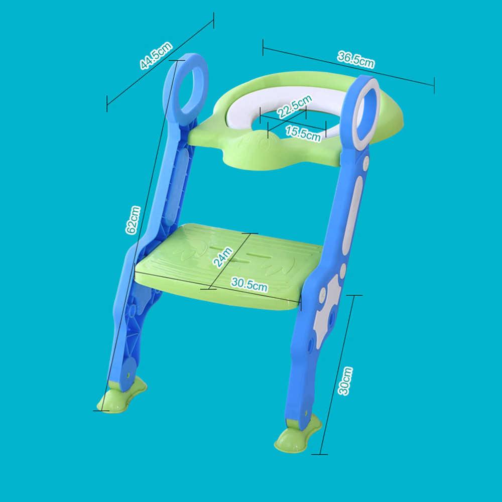 Детское сиденье для унитаза детская горшок Регулируемая Лестница горшок для младенцев Дети складной безопасности Детские сиденья туалет тренировочное Сиденье горшок для детей