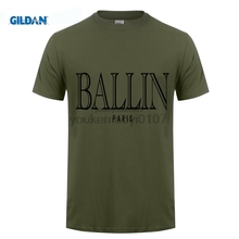 BALLIN PARIS Printed T Shirts Online Cheap Tee Shirt Mans Short Sleeve Boyfriend's XXXL