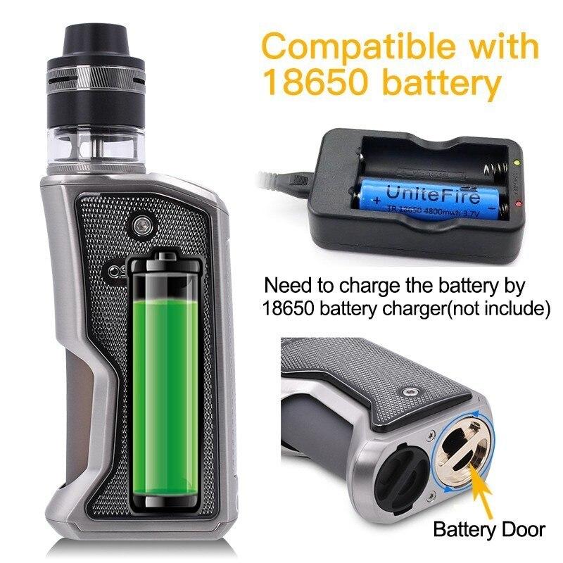 Cigarette électronique Squonk Aspire Feedlink Vape Kit avec 7ML Silicone bouteille 510 Mod et 2ML Revvo Boost réservoir utiliser 18650 batterie - 4