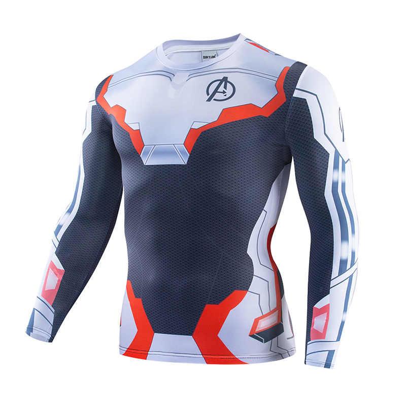 2019 新しいフィットネス圧縮シャツ男性コスプレ男性クロスフィットアベンジャーズ Endgame 量子領域男性 tシャツ 3D プリントスーパーマントップ