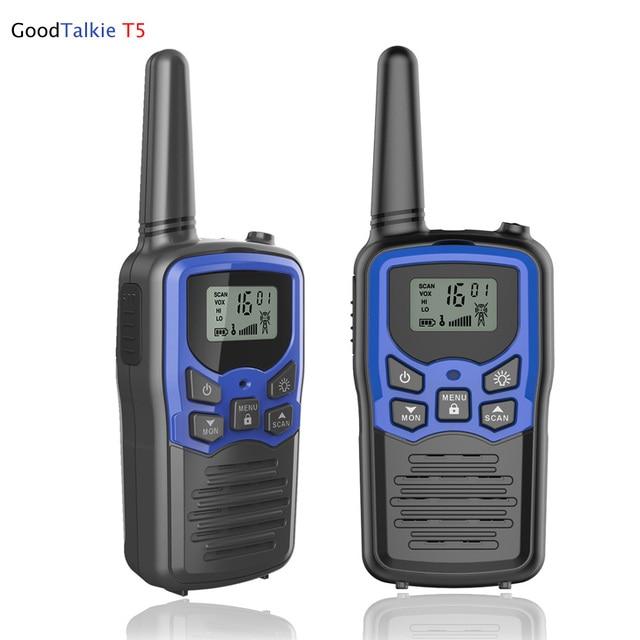 2 pz/lotto GoodTalkie T5 Palmare Wookie Talkie viaggi zaino in spalla walkie talkie 5km Portatile A Due Vie Radio