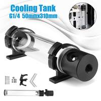 310mm G1/4 Thread Cylinder Water Cooling Tank 19W Pump Computer Water Cooling Radiator New Computer Water Cooling Cooler For CPU
