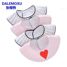 DALEMOXU Toddler Girl Boy Bib Cotton Heart Plum Square Newborn Meal Baby Collar White Novelty Waterproof For Thing