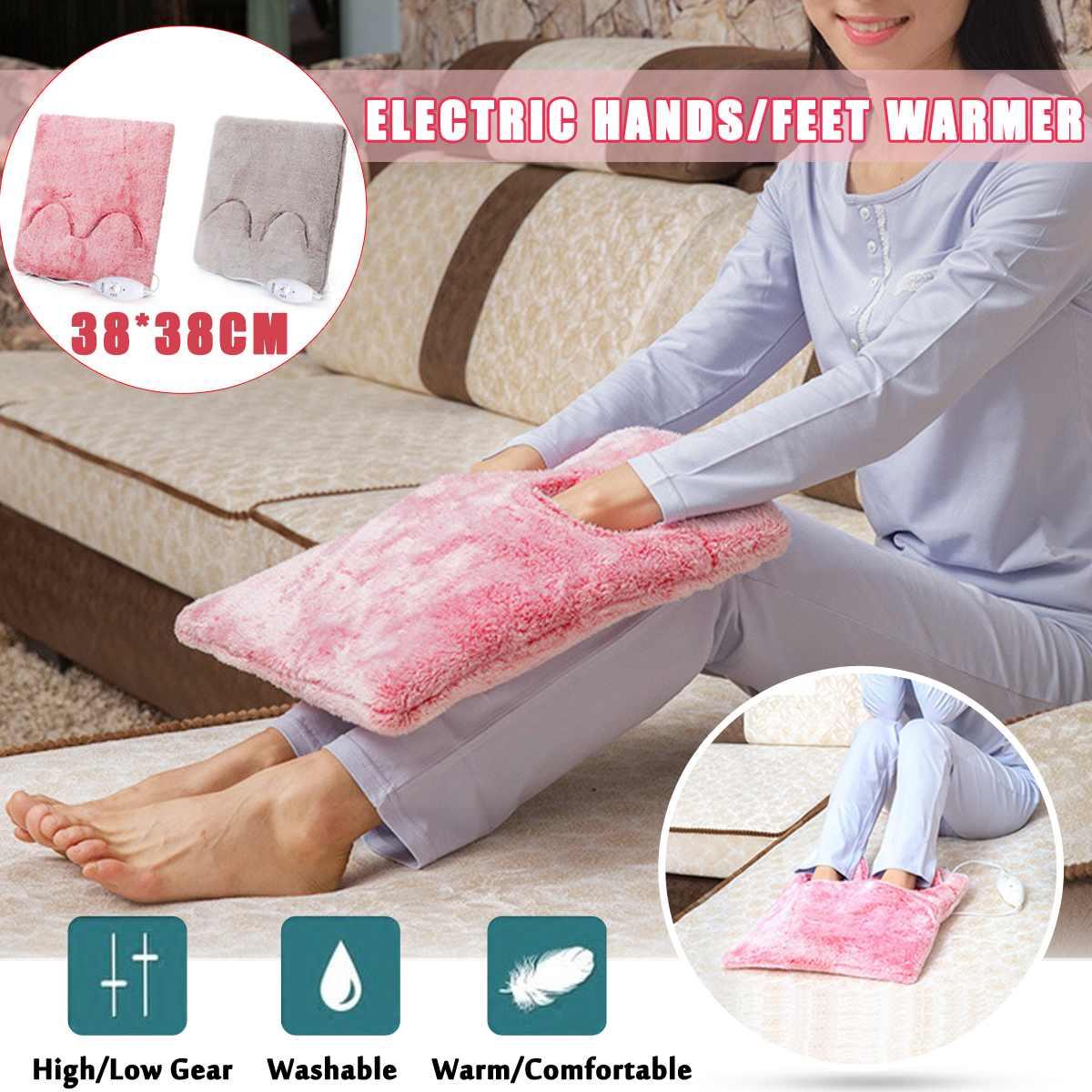 Calentador eléctrico de 220V 20 W, manos/pies, almohadilla, zapato desmontable, estufa de invierno, zapatillas de calentamiento, asientos, silla de sofá caliente estera de cojín AC220-240V 6 orificios de Gas de la estufa de pulso de la chispa de encendido eléctrico piezas del calentador de agua seguro de alta calidad