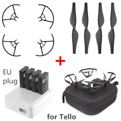 FORDJI Tello etui do przechowywania EVA  4 pary 3044P Quick Release śmigła  śmigła straży  3 w 1/4 w 1 ładowarka Hub  kabel USB do ładowania|Zestawy akcesoriów do dronów|Elektronika użytkowa -