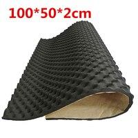 2 см автомобильный звукоизолирующий звукоизоляция акустическая амортизирующая пена сабвуфер коврик черный использовать для салона автомо...