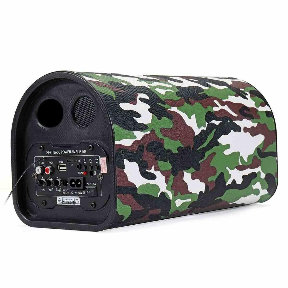 USB Регулировка 12 В/24 В 220 В Автомобильный bluetooth пульт дистанционного управления сабвуфер Hi-Fi бас усилитель мощности динамика совместимый Смартфон стол