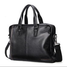 Mens Briefcase Laptops Bags Notebook Computer Bag Men Shoulder Genuine Leather Handbag Portable KUMON For Huawei Matebook X Tas