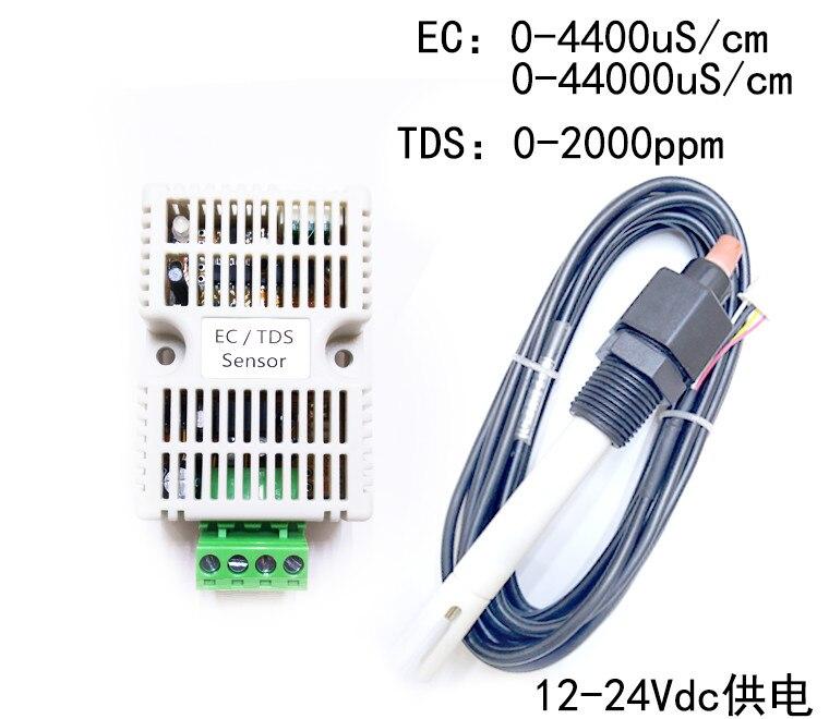 Surveillance de l'eau et des engrais de l'alimentation 12-24 V 4-20mA conductivité EC/TDS485 capteur de BHT-D du Module EC d'eau de mer