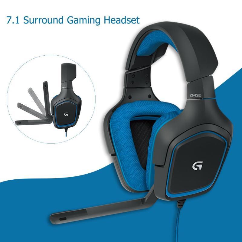 Logitech G430 7.1 Surround casque de jeu stéréo USB casque filaire réglable anti-bruit rotation des oreillettes pour PC/PUBG
