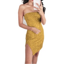 Off Shoulder Sexy Mini Dress Women Glitter Wrap Backless Short Sleeveless Party Club Dresses Summer