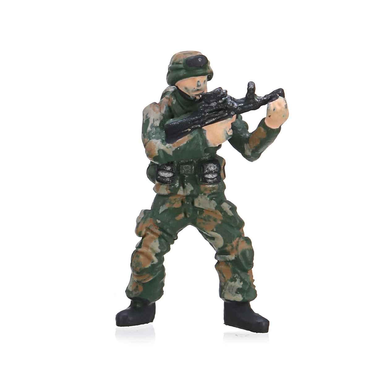 1: 64 figure Modello Anime Mini Bambola Della Decorazione del PVC Collezione Figurine Giocattoli modello di Forze Speciali Persone del Gruppo di Modello di Auto Set