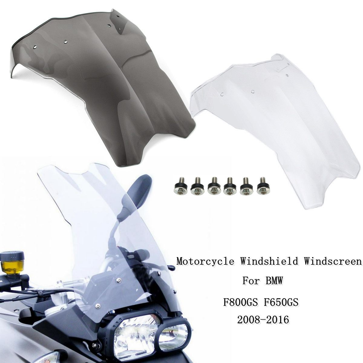 Motorcycle Wind Deflectors Windshield Windscreen Fairing Part for BMW F800GS F650GS 2008-2016Motorcycle Wind Deflectors Windshield Windscreen Fairing Part for BMW F800GS F650GS 2008-2016