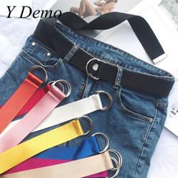 Y Demo краткое карамельный цвет женские пояса Мягкие Длинные ремни с возможностью регулировки