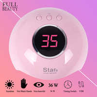 36W/9W UV Lamp for Nail Drying 12 LEDs USB Mini Lamp Cured for All Gel Manicure LCD Display Polish Dryer Nail Tools CHStar6/Mini