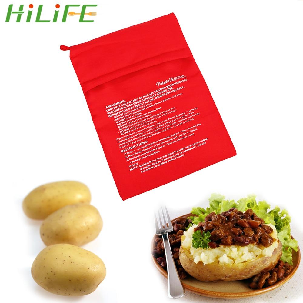 HILIFE моющиеся мешок для запекания печь для выпечки мешок картошки быстро печеный картофель кармашек для риса легко готовить паровой карман