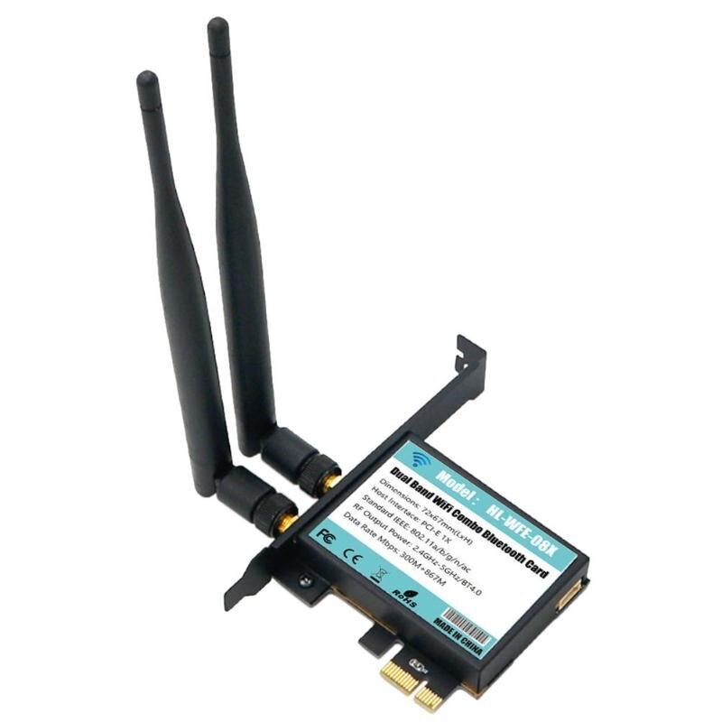 Double Bande WiFi 802.11A/B/G/N/AC + Bluetooth4.0 802.11AC Carte PCB Adaptateur