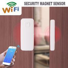 df8daefbf2f WiFi inteligente Sensor de puerta de jardín ventana de seguridad imán  Sensor de fácil aplicación para