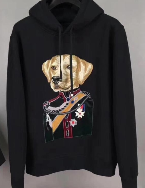 New Fashion Designer Dog Duke Royal Crown Embroidery Hoodies With Hood Outwear Clothing