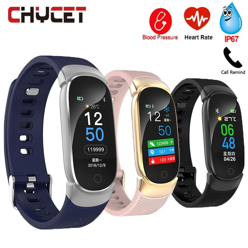 Smart Fitness Bracelet Watch Smart Bracelet Blood Pressure Measurement Fitness Tracker Heart Rate Monitor Watch Waterproof