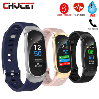 Smart Fitness Bracelet Watch Smart Bracelet Blood Pressure Measurement Fitness Tracker Heart Rate Monitor Watch Waterproof Women