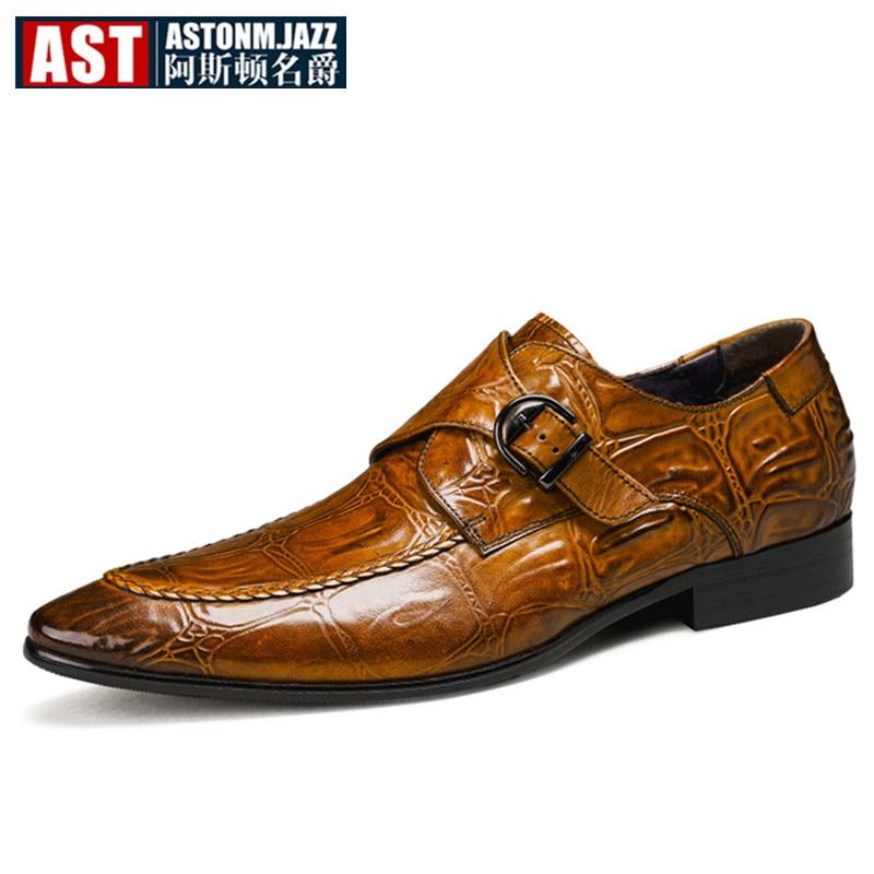 65ce16ef43 brown Oxfords Hombres ¡nueva On Británico Caliente Patrón De Moda Black  Negocios Los Hebilla Zapatos Cuero Vestir Primavera ¡ Hombre ...