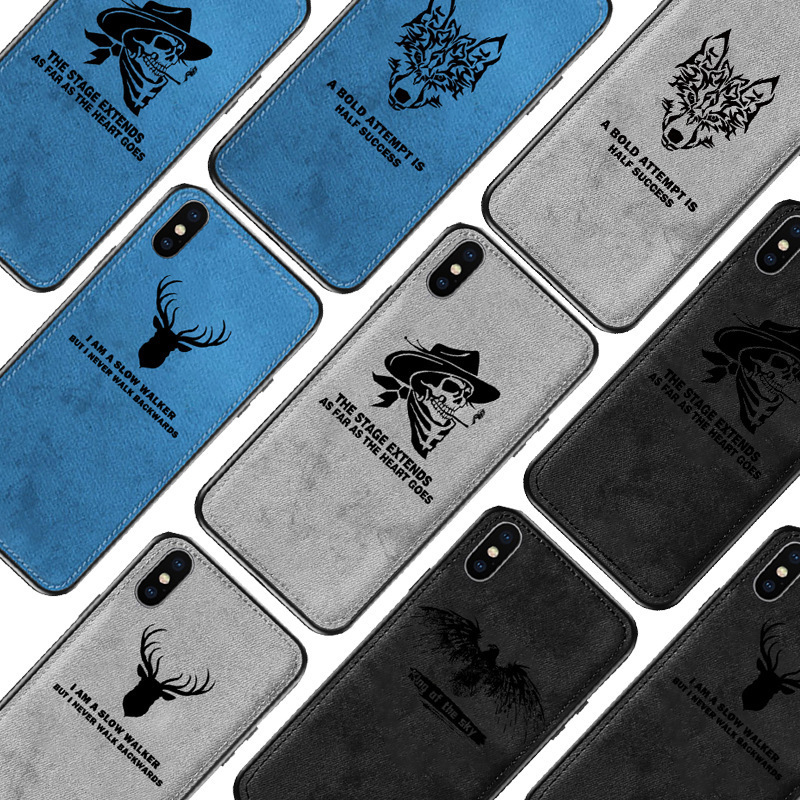 New Cloth Texture Ultra thin Canvas Silicon Phone Case For Iphone 7 8 6 6s Plus Innrech Market.com