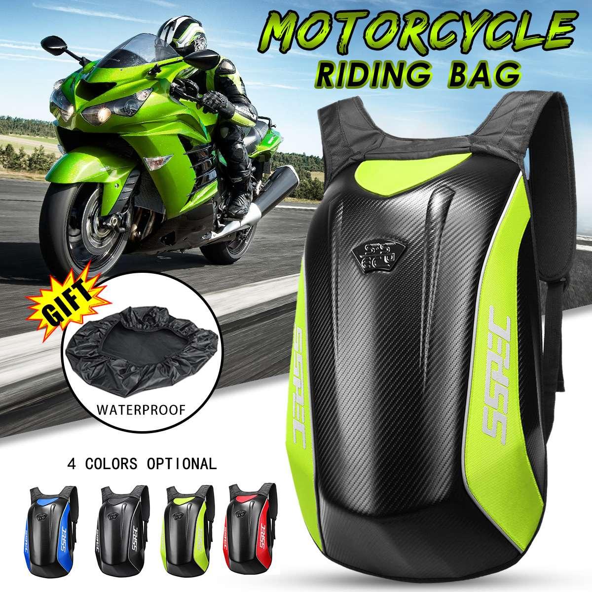 Sac de moto universel sacs de rangement de course de course sac à dos de casque de moto imperméable à l'eau en Fiber de carbone