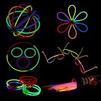 Thinkmax Glow Sticks Multi Colored 8 Glow Sticks and Connectors, Make Bracelets, Glasses, Ball, Flower and More 134 Pcs Set