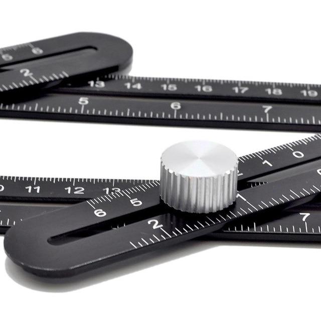 Adjustable Angle Ruler Drill Guide Glass Tile Tool Woodworking Gauge Measuring Tool Slide Ruler Foldable Ruler Protractor 1