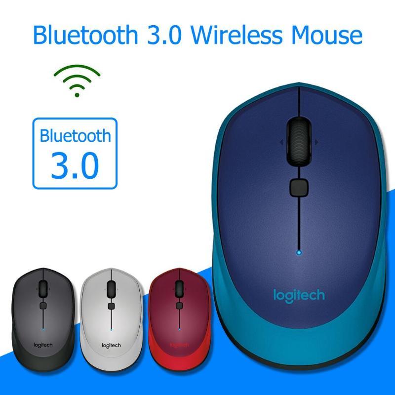 Logitech M336 Bluetooth 3.0 Wireless Mouse 1000DPI Both Hands Mini Laptop Mice For Windows 7/8/10 Mac OS X 10.8 PC Accessories