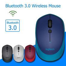 Logitech M336 Bluetooth 3.0 Wireless Mouse 1000DPI Both Hands Mini Laptop Mice for Windows 7/8/10 Mac OS X 10.8 PC Accessories logitech m590 multi device silent bluetooth wireless computer mute mouse windows 7 8 10 mac ox chrome os linux kerel 2 6