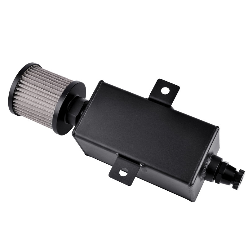 SPEEDWOW 1L Aluminum Oil Catch Can Reservoir Tank Oil Catch Can With Breather Filter Drain Tap in Fuel Tanks from Automobiles Motorcycles
