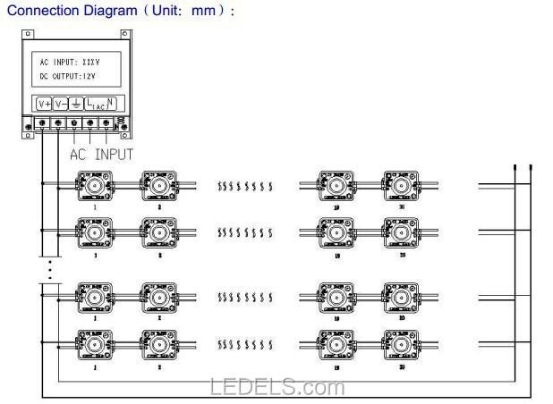 200 шт./лот соответствует требованиям ce rohs светодиодный модуль наружный освещение 12 В 1,4 Вт 4 светодиода 2835 Светодиодный модуль для буквенного знака