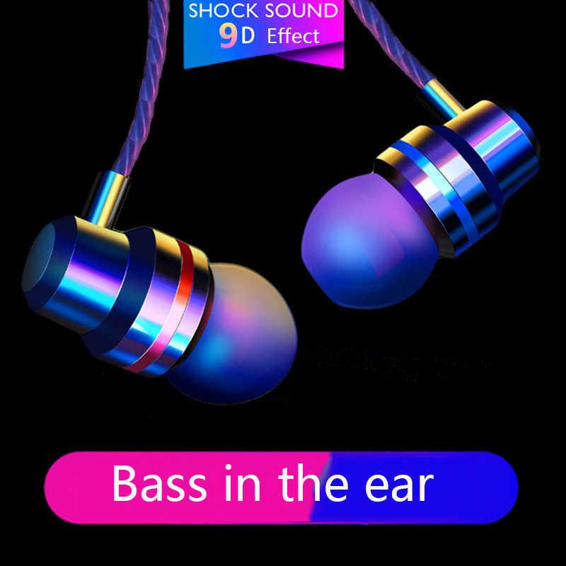 Robotsky Tipo C Auricolare Dynamic Drive HiFi USB-C Auricolari In-ear Bass Metallo Sport Gaming Headset con Il Mic per xiaomi Huawei Letv