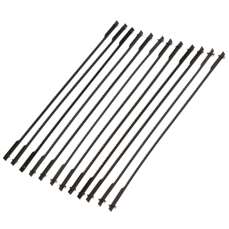 12Pcs 127mm Pinned Scroll Saw Blades TPI 10/15/18/24 Power Tools Accessories For Woodworking