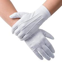 White Etiquette Gloves Polyester Three Strength White Gloves