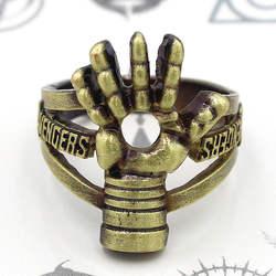 Marvel кольцо Мстителей Железный человек кольца Размер 18 мм палец кольцо бронзовые кольца подарок костюм аксессуар Косплэй коллекция