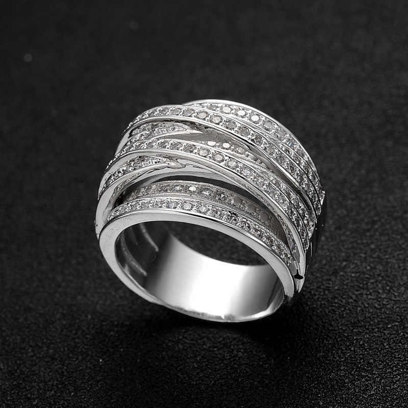 Мульти-Рядовая обмотка, кольца с бриллиантами, креативные кольца Anillos De, 14 K, золото, Bague Etoile Bizuteria для женщин и мужчин, ювелирные изделия