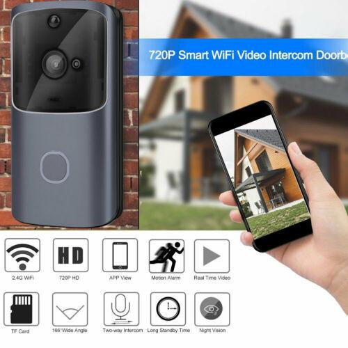 Smart Video беспроводной WiFi дверной звонок ИК Визуальный камера запись системы безопасности комплект