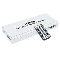 HFES 4 К кабель-концентратор 4x1 Quad Multi-viewer экран высокой четкости сегментация бесшовная коммутация выходной переключатель для HDTV DVD P
