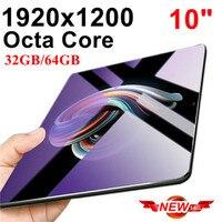 Octa Core 10 дюймовый планшет с картой Pc 4G LTE вызова мобильный телефон 4G android tablet pc 32/64 GB ips 1920*1200 10 10,1