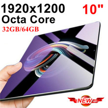 Octa Core 10 дюймов планшет с картой ПК 4 аппарат не привязан к оператору сотовой связи телефонными звонками и mobile 4G планшетный ПК с системой андроида ПК 32 GB/64 GB ips 1920*1200 10 10,1