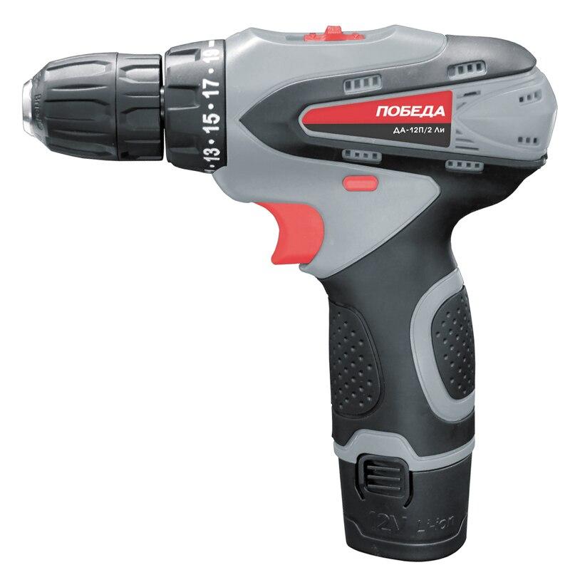 Cordless drill-screwdriver POBEDA DA-12P/2 Li 1 284040 2[pluggable terminal blocks plug 12p vert 5mm] mr li
