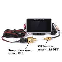 4in1 12V 24V LCD Car Digital Gauge Oil Voltage Pressure Fuel Water Temp Meter M10 Auto Replacement Parts