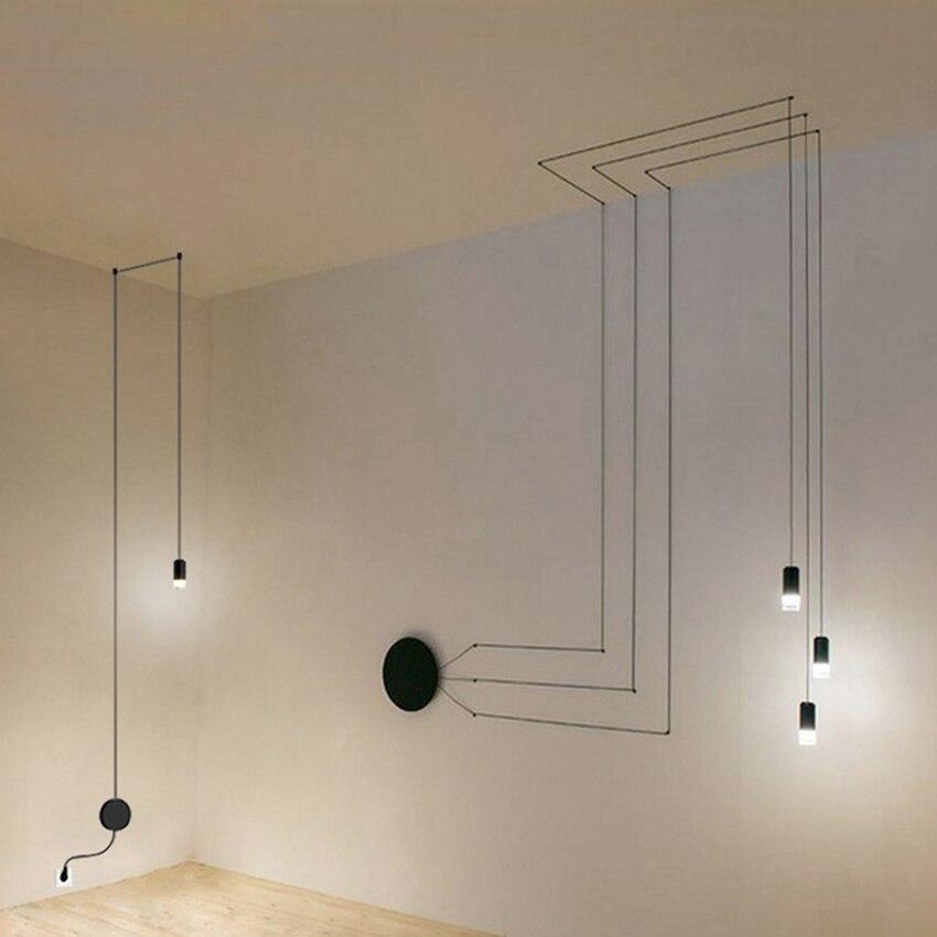 Post-modern Geometric Modeling Pendant Lights  Living Room Bedroom Restaurant Led Lamp Luminaire Luminaria Suspension